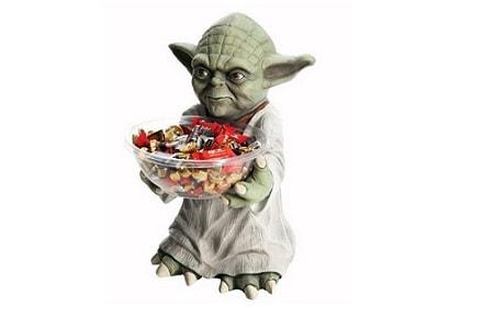 Yoda ofrece caramelos