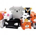 Animales de papel para envolver regalos