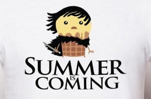 "Camiseta ""Summer is coming"""