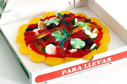 Pizza de gominolas