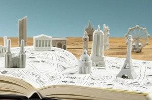 Gomas de borrar de monumentos famosos