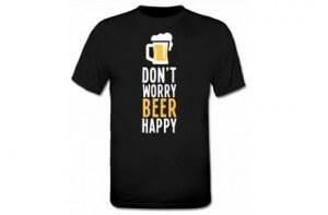 """Camiseta """"Don't worry, beer happy"""""""