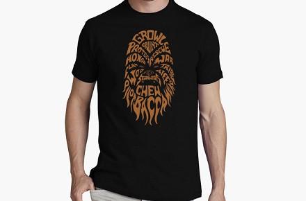 Camiseta Chewbacca tipografías