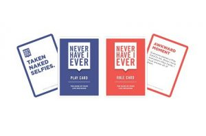 "Juego de cartas ""Never Have I Ever"""