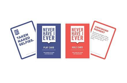 """Juego de cartas """"Never Have I Ever"""""""