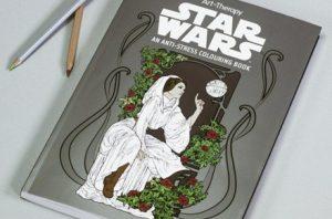 Libro anti-estrés con imágenes para colorear de Star Wars