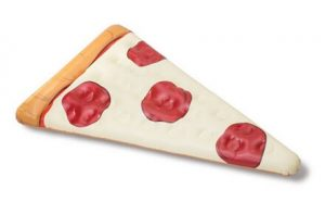 Flotador gigante con forma de pizza