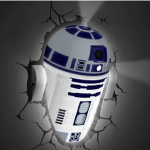 Lámpara de pared 3D R2D2