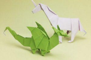 """Libro """"Dragones y otras criaturas fantásticas en Origami"""""""