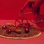 Cortapizzas con forma de bicicleta