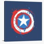 Lienzo escudo del Capitán América