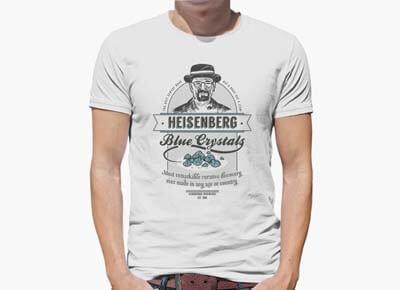"Camiseta ""Blue Crystals"" de Heisenberg"