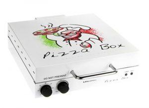 Horno para pizzas con forma de caja