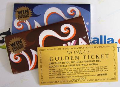 Tabletas de chocolate Wonka