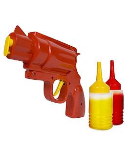 Pistola dispensadora de Ketchup