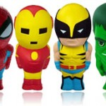 Muñecos Antiestrés de Spiderman, Iron-Man, Lobezno y Hulk