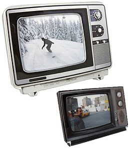 Marco de fotos con forma de televisor retro