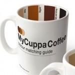 Taza de café con guía de colores