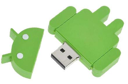 Memorias USB con forma de Android