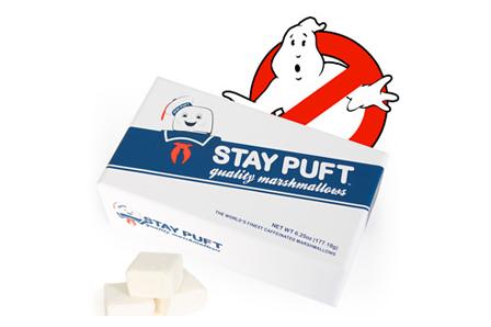 Los auténticos Marshmallows de Los Cazafantasmas