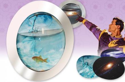 Pecera espacial, un acuario original para decorar
