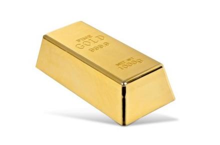Lingote de oro tope para la puerta