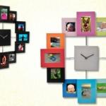 reloj marco de fotos
