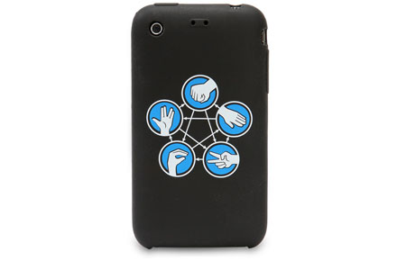 """Funda friki iPhone """"Piedra, papel, tijeras, lagarto, Spock"""""""
