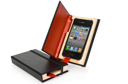 Funda friki iPhone con forma de libro
