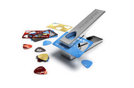 Máquina para hacer púas de guitarra