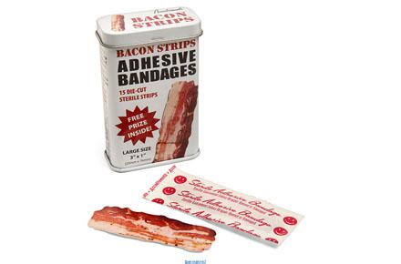 Tiritas con forma de loncha de bacon