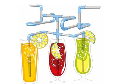 Cañitas modulables T-UP Straws