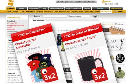3×2 en camisetas frikis y en tazas de música en Fnac