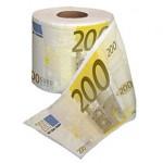 Papel Higiénico de billetes de 200 Euros