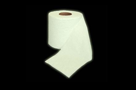 Papel higiénico fluorescente
