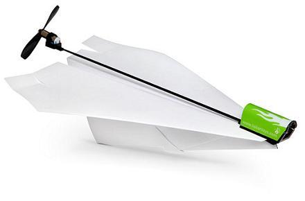 Motor eléctrico para aviones de papel