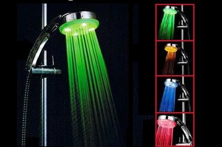 Luz de Ducha LED y medidor de temperatura