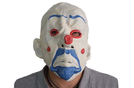 Disfraz Halloween: Máscara de payaso del Joker