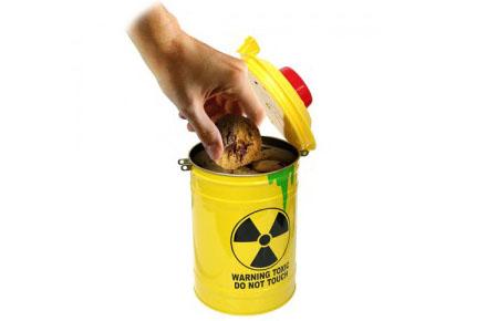 Bote tóxico para guardar galletas