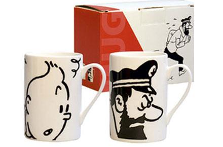 Tazas de Tintin y Haddock
