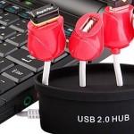 HUB USB con forma de tulipanes
