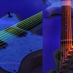 Cuerdas de guitarra luminosas