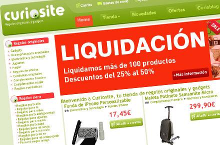 Liquidacion. Descuentos del 25% al 50% en Curiosite