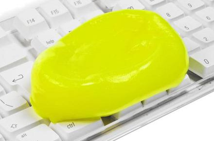 Masilla limpiadora de teclados
