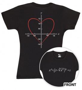 Camiseta corazón matemático