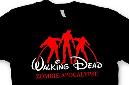 "Camiseta ""The Walking Dead"" Zombie Apocalypse versión Disney"