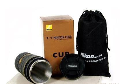 Taza/Termo objetivo Nikon
