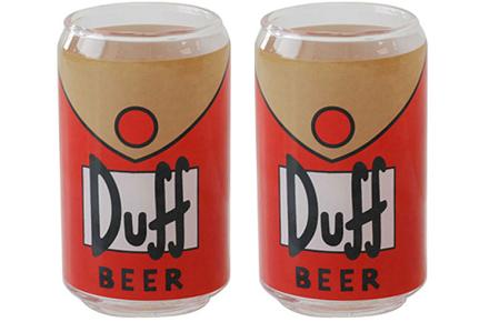 Pack de 6 vasos de cerveza Duff