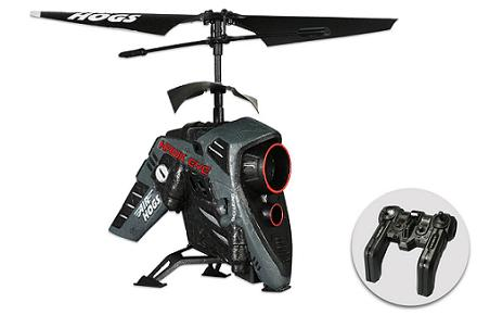 Helicóptero radio-control con videocámara