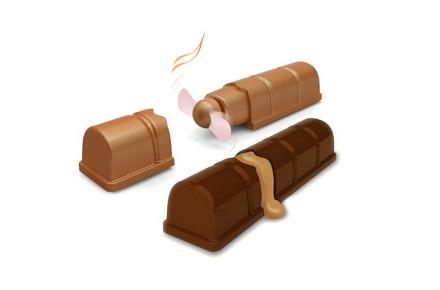 Ventilador con forma de barrita de chocolate